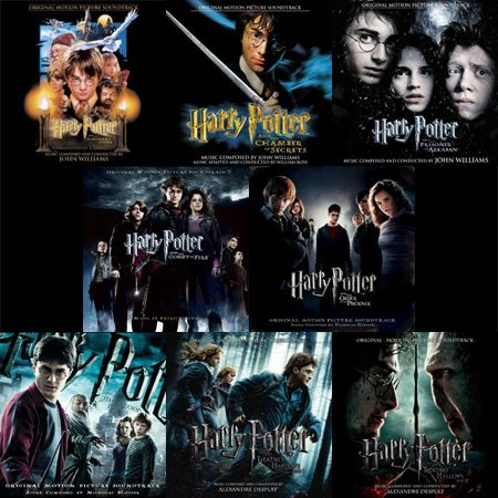 Album Covers for Harry Potter 1 - 8