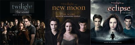 Covers of Twilight, New Moon & Eclipse