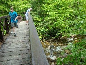 My family, exploring Vermont