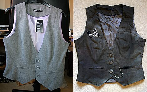 The waistcoat: before and after