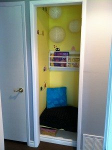 My daughter's reading nook