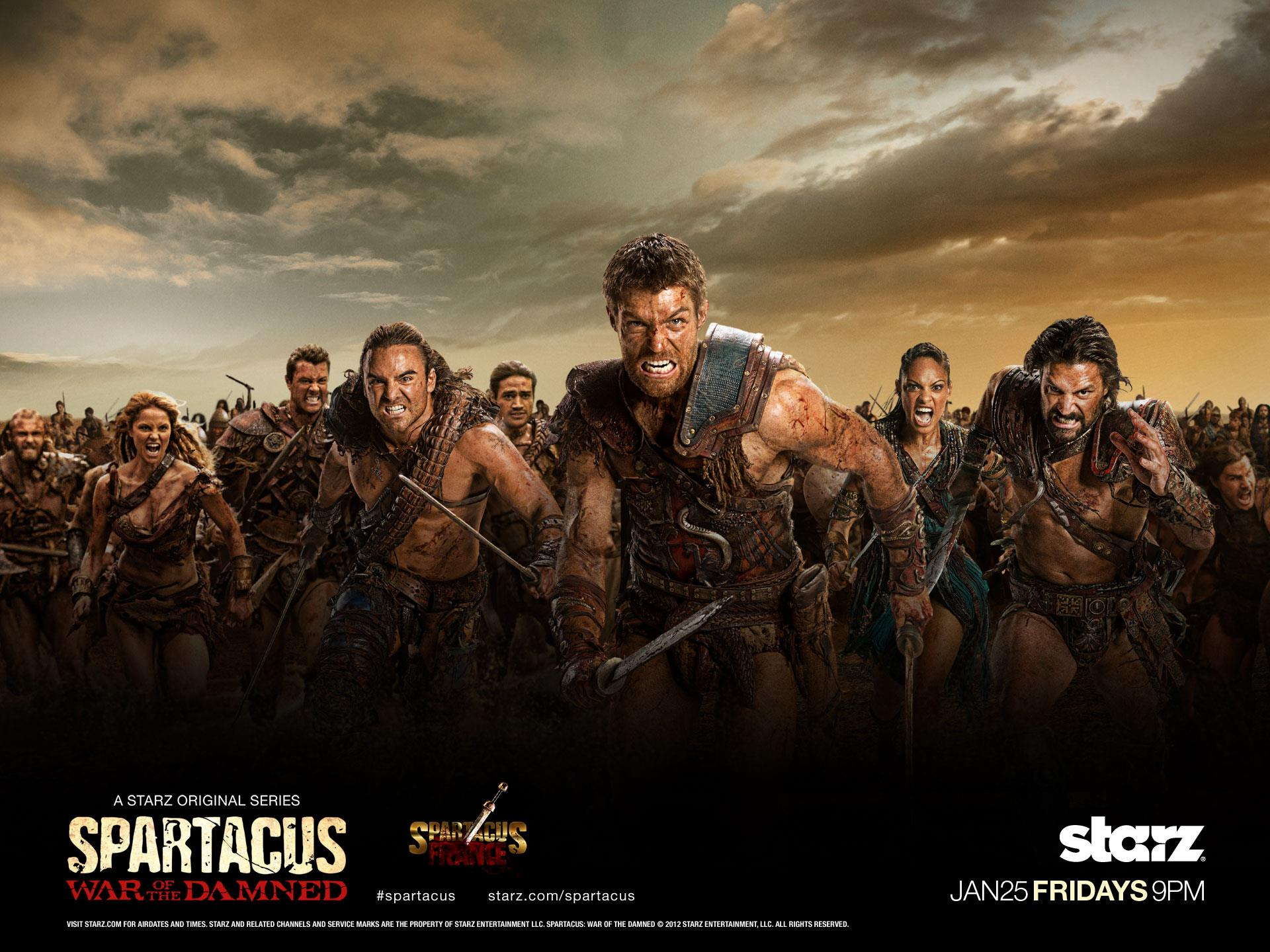 Spartacus, Starz, War of the Damned, Roman Gladiators