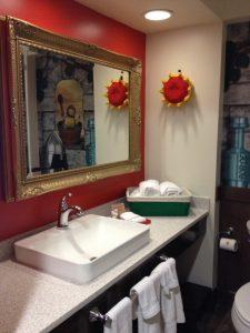 Our hotel room bathroom. Photo: Jenny Williams