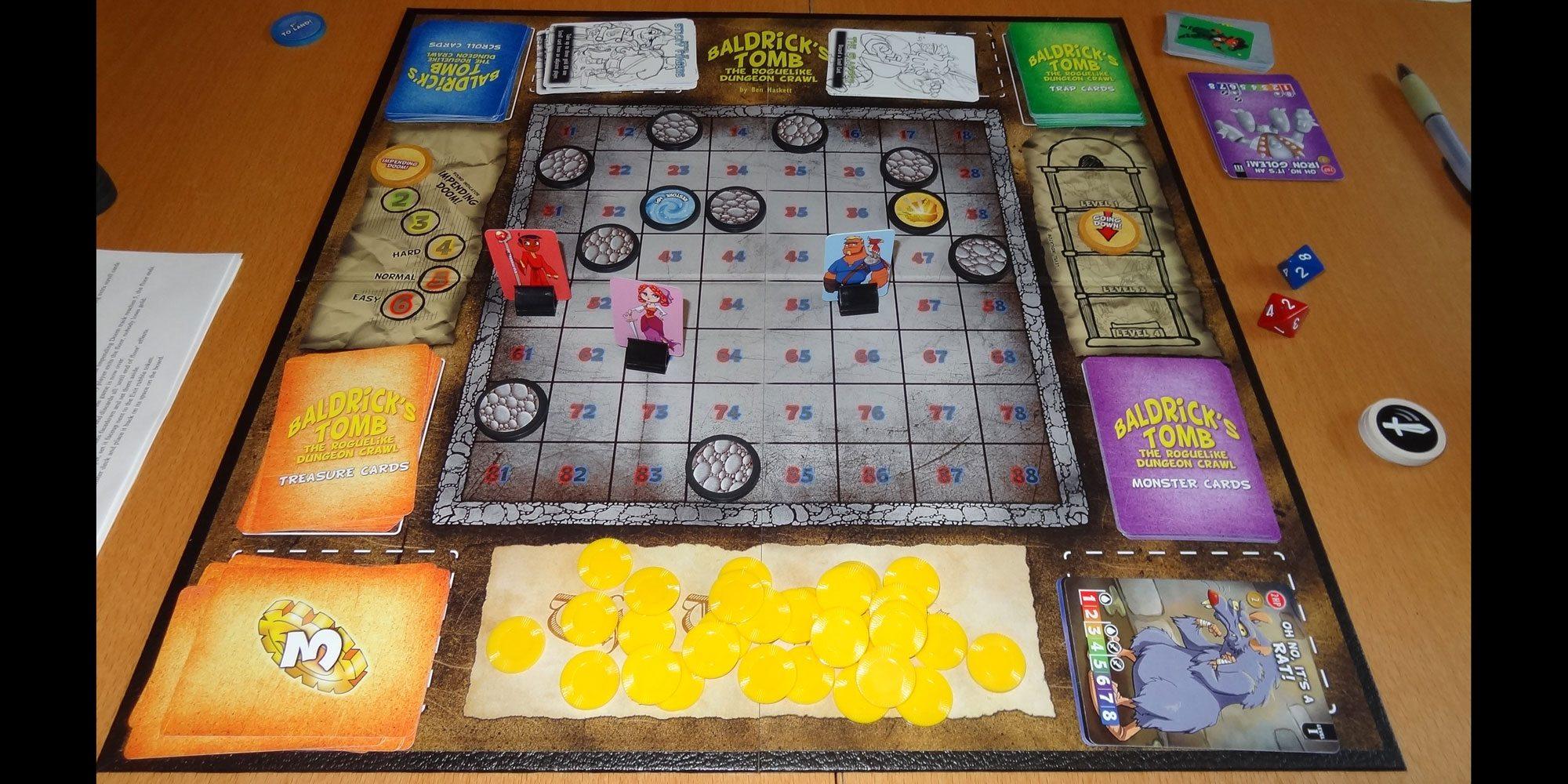 Baldrick's Tomb game in progress