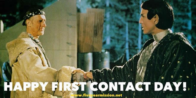 Happy FIrst Contact Day ... circa 2063