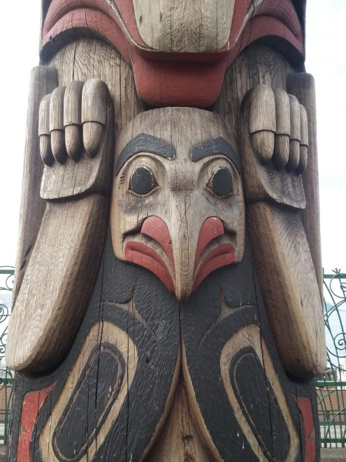 This totem was nearby the market near the water. It was beautiful. Photo: Jenny Williams