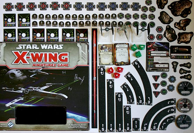 X-Wing Miniatures Game Pieces © Fantasy Flight Games