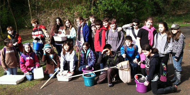 Students From Roosevelt Elementary at Burnt Bridge Creek