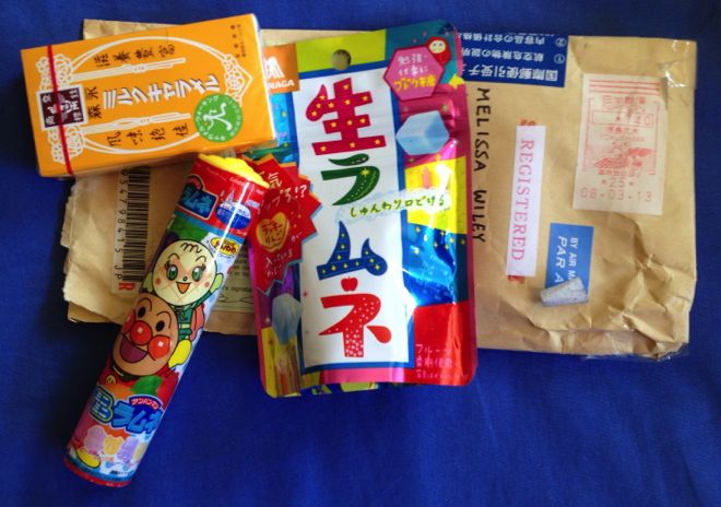 Sample Candy Japan package.