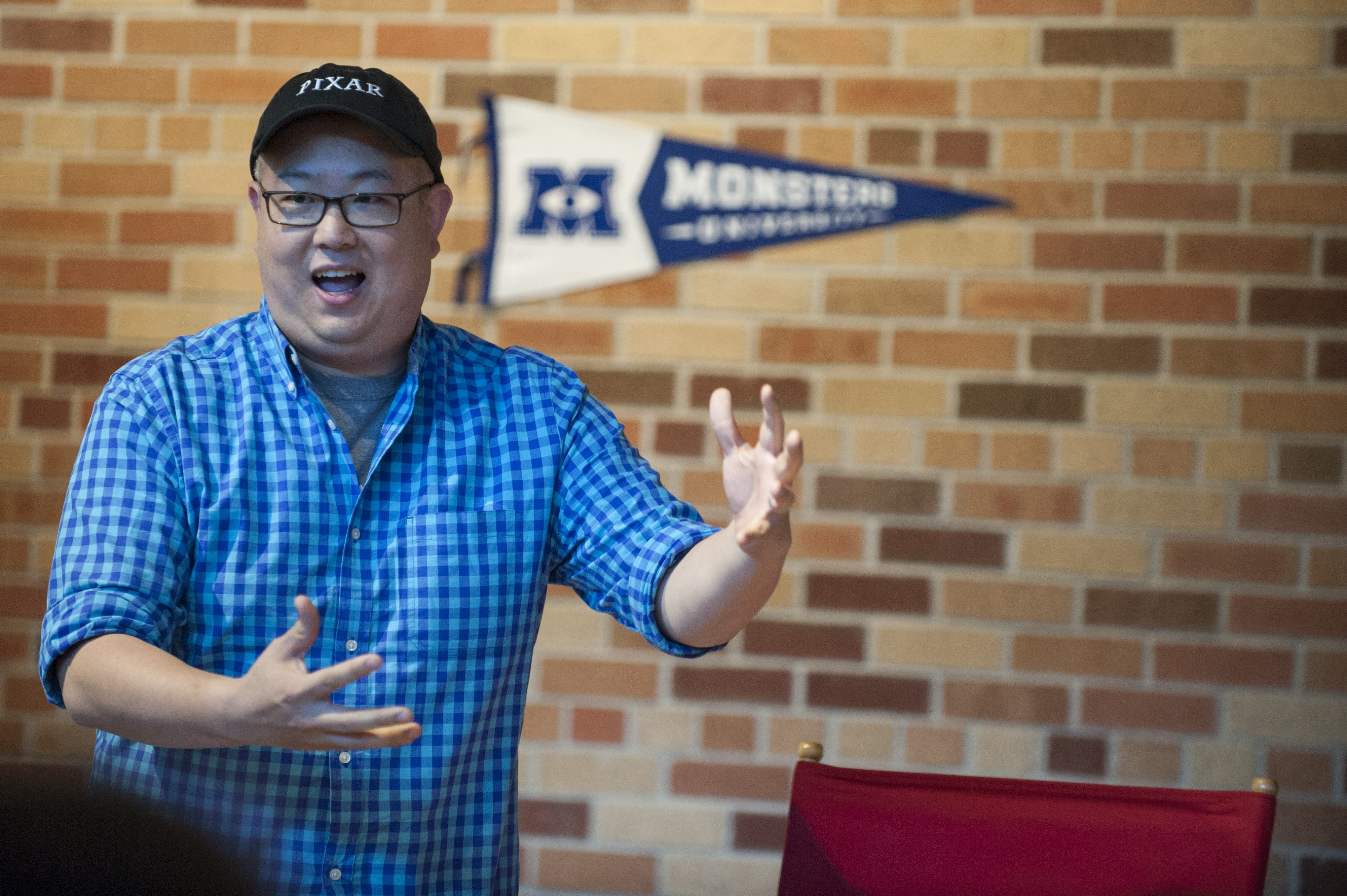 Peter Sohn Voice Of Squishy In Monsters University Proves Nice Guys Sometimes Do Finish First Geekdad