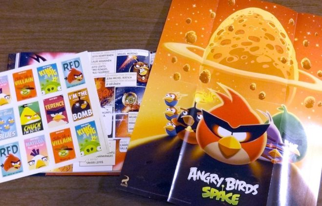Angry Birds sticker and poster