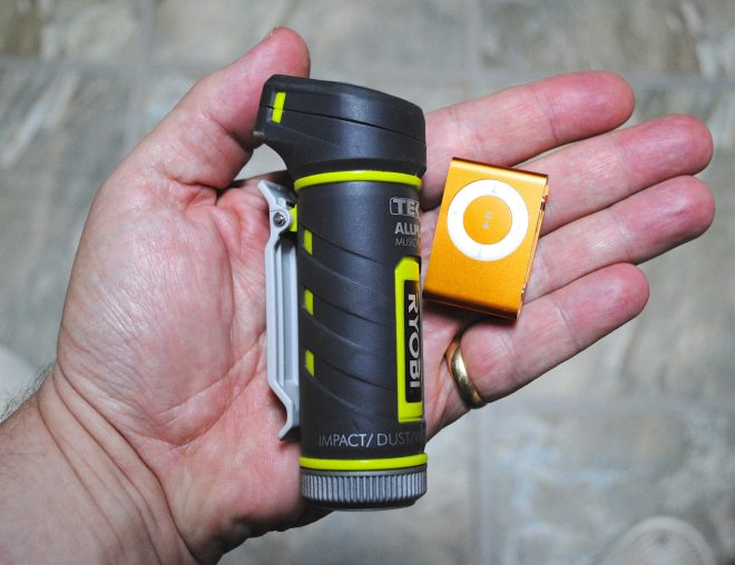 Ryobi TEK4 AllPlay - 72 hours or more music on a single battery charge.