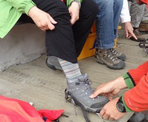 Hikers aren't enough, you need crampons too