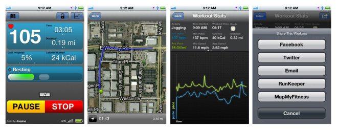 Scoshe myTrek IOS app view