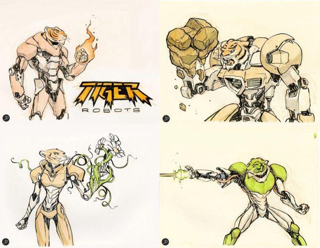 Tiger Robots by Jake Parker