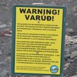 Glacier warning