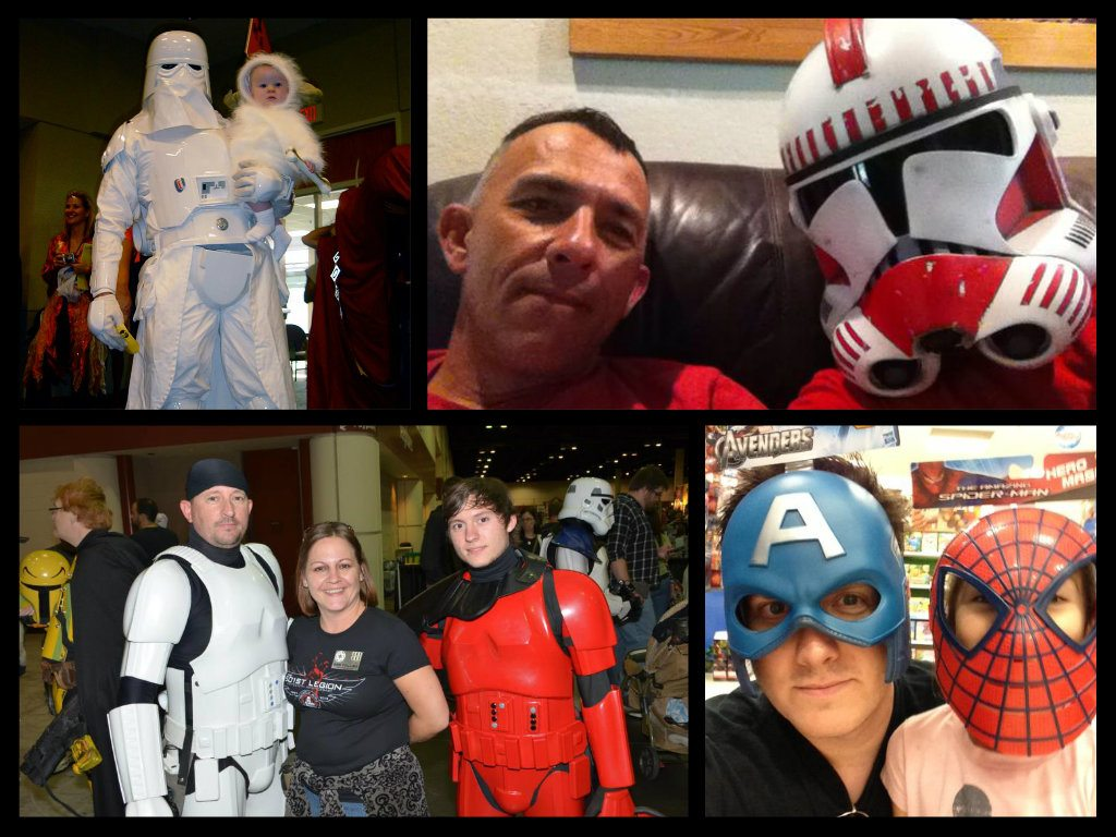 These dads are pretty cool! Images Courtesy of 501st Legion Troopers