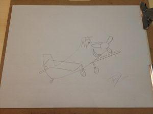 GeekDad Tony draws Dusty from Planes