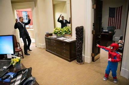 Obama and Spider-Man