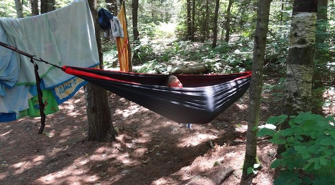 The DoubleNest Hammock is great for kids