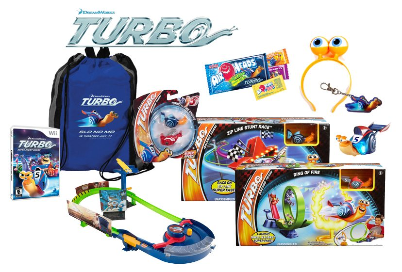 The Turbo Ultimate Prize Pack, courtesy Dreamworks Animation