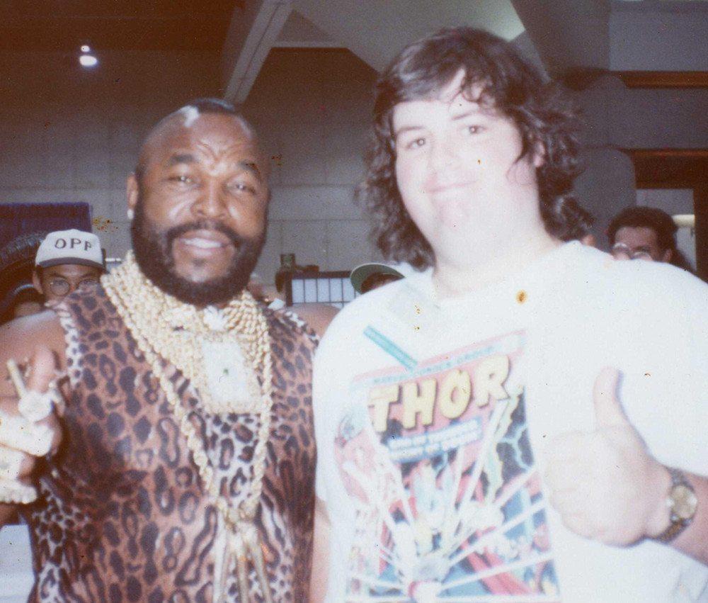 The author with Mr.T. Some years ago. (Photo: Bob Calhoun)