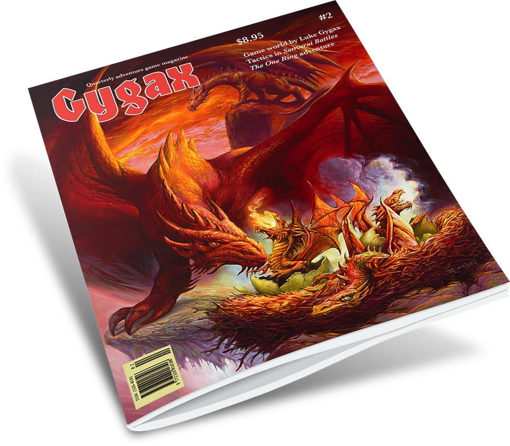 Gygax Magazine, Issue 2, with art by Jeff Easley