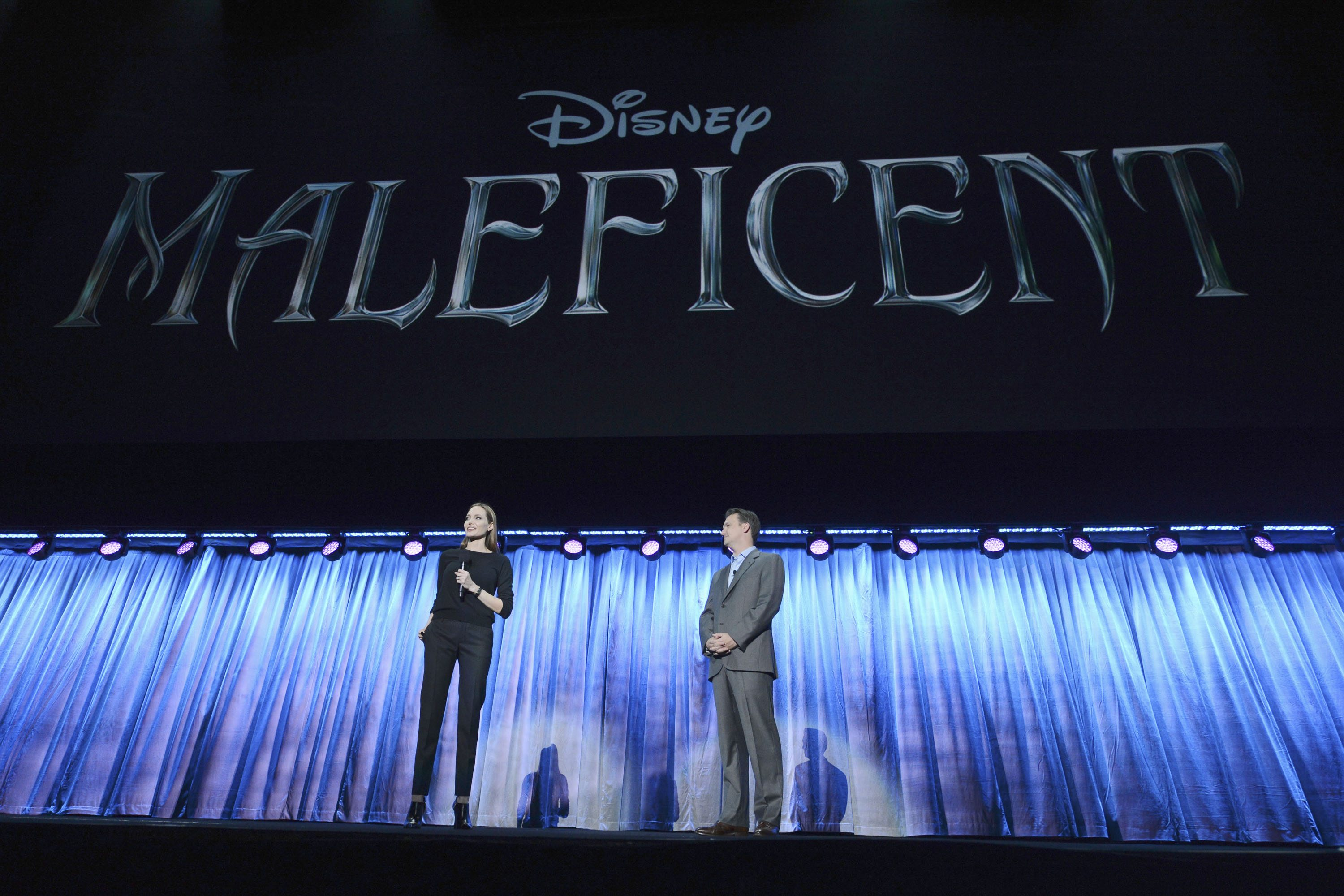 Angelina Jolie appeared to talk about playing the title villain in Maleficent.