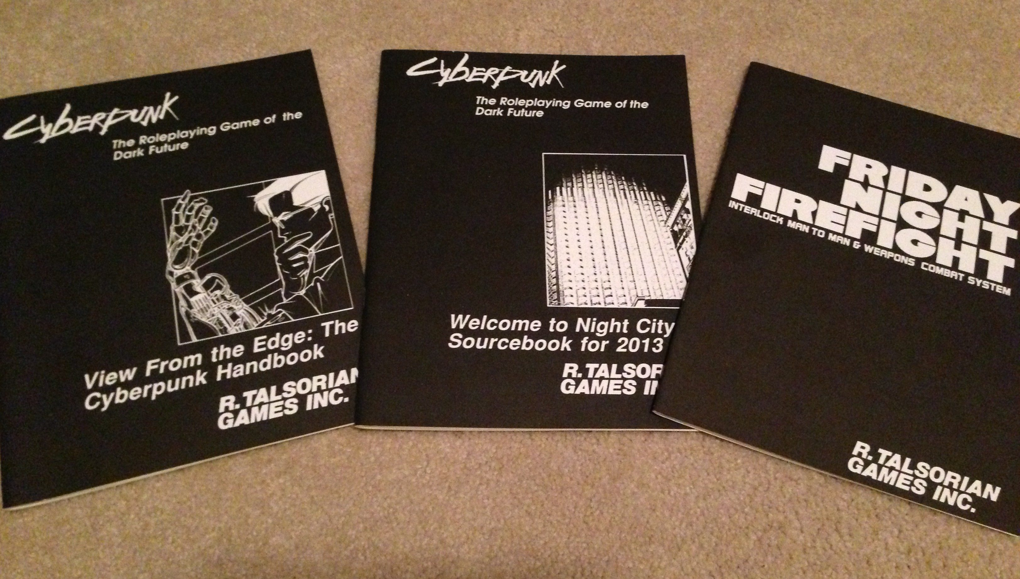 Cyberpunk RPG manuals