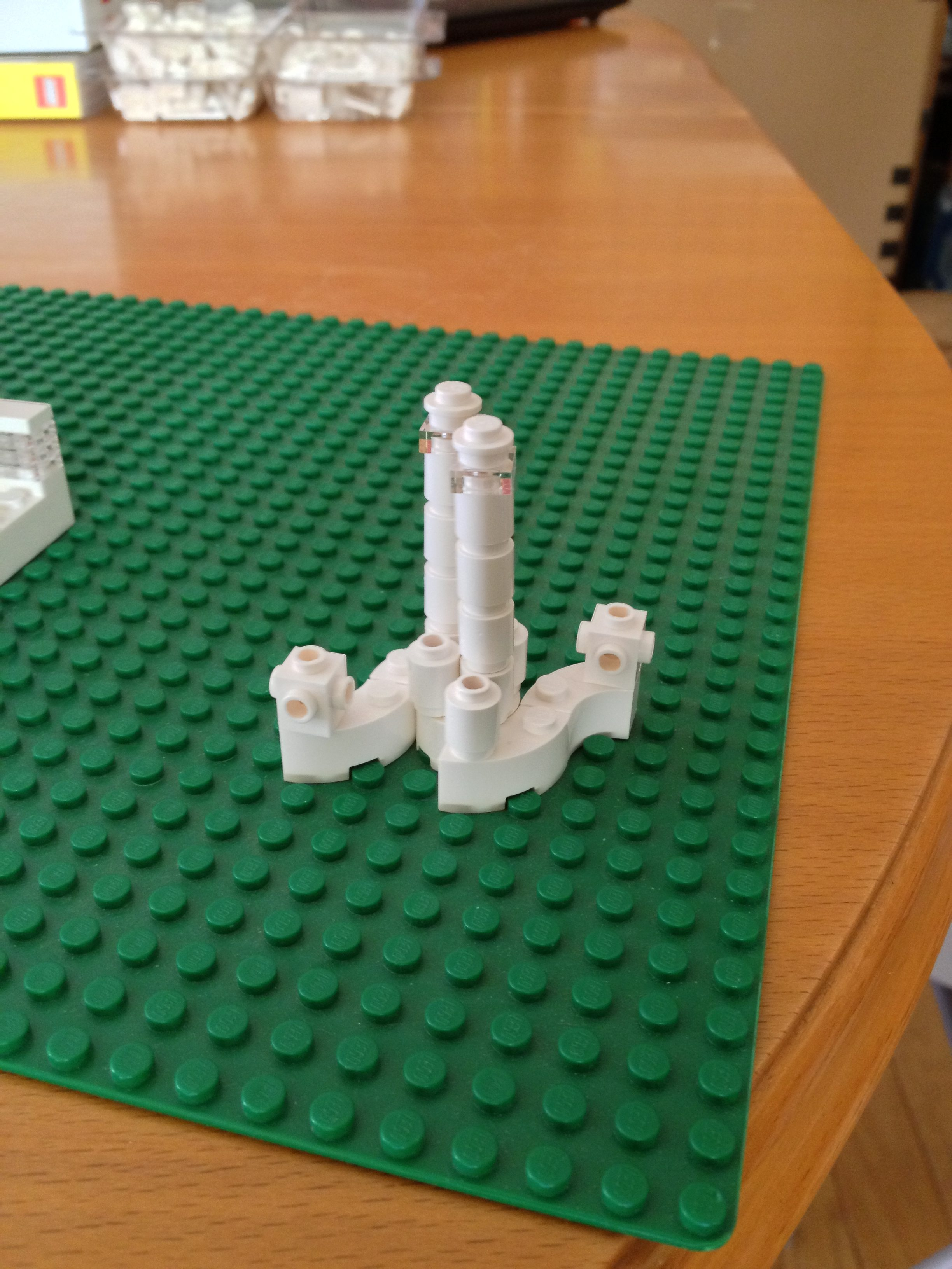 Playing with non-square shapes, this is my mini-skyscraper/Tatooine-style cooling tower. Photo: Jenny Williams