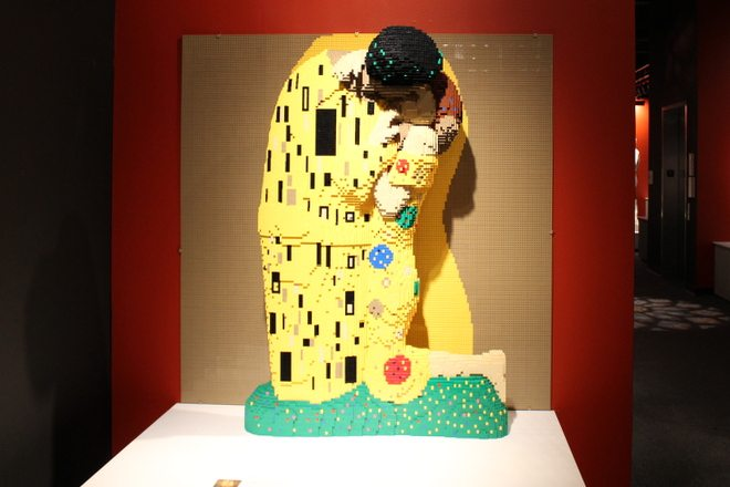 Klimt's The Kiss in LEGO