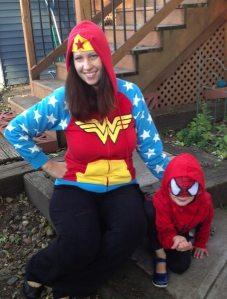 My wife is very fond of the Wonder Woman hoodie.