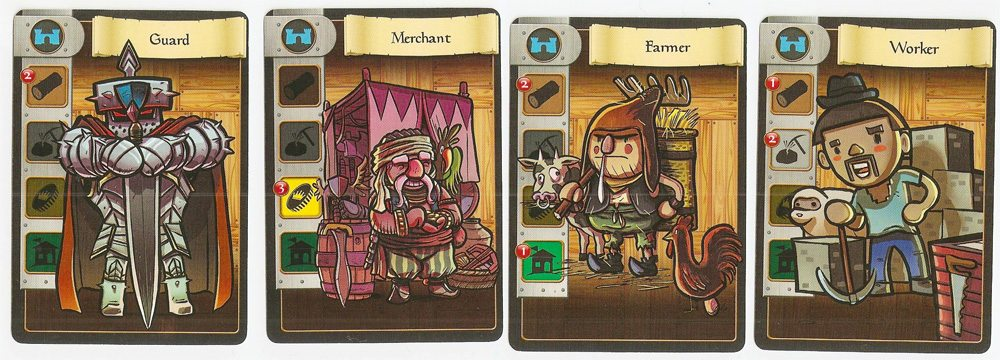 Villagers cards