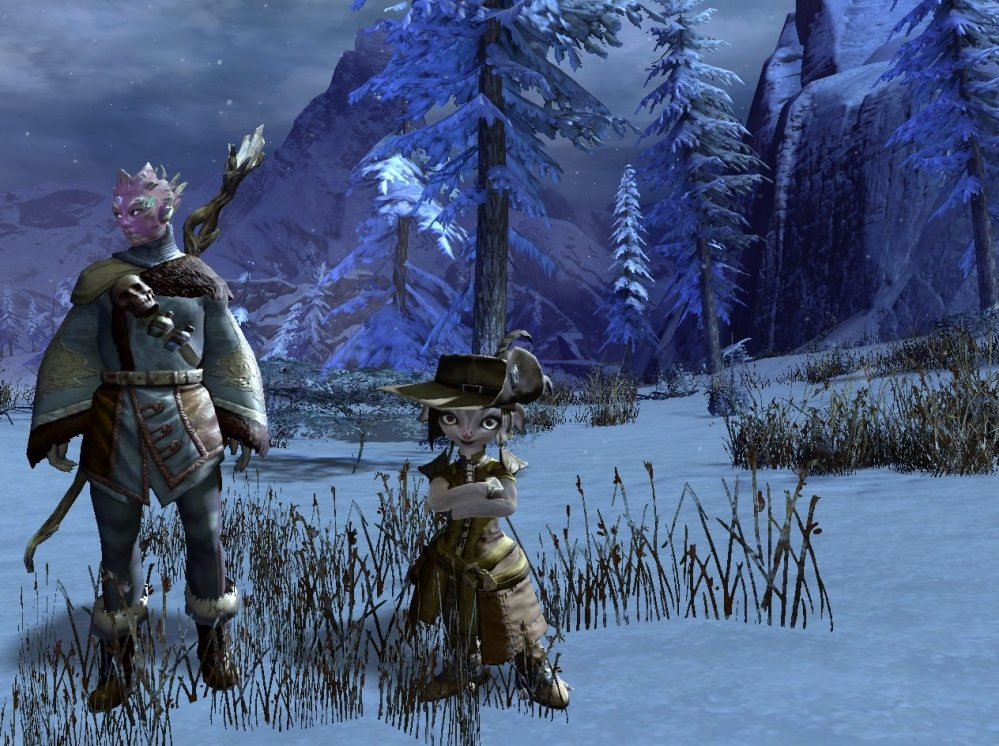 Rory's character standing next to mine. Screenshot: Jenny Williams