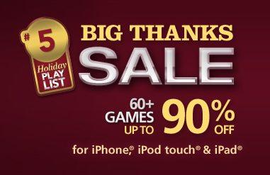 Holiday app sales