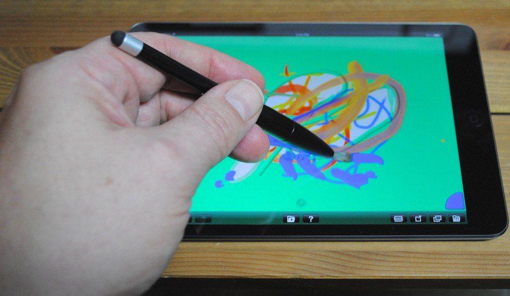 Nomad Mini 2 Portable Paintbrush Stylus in action.