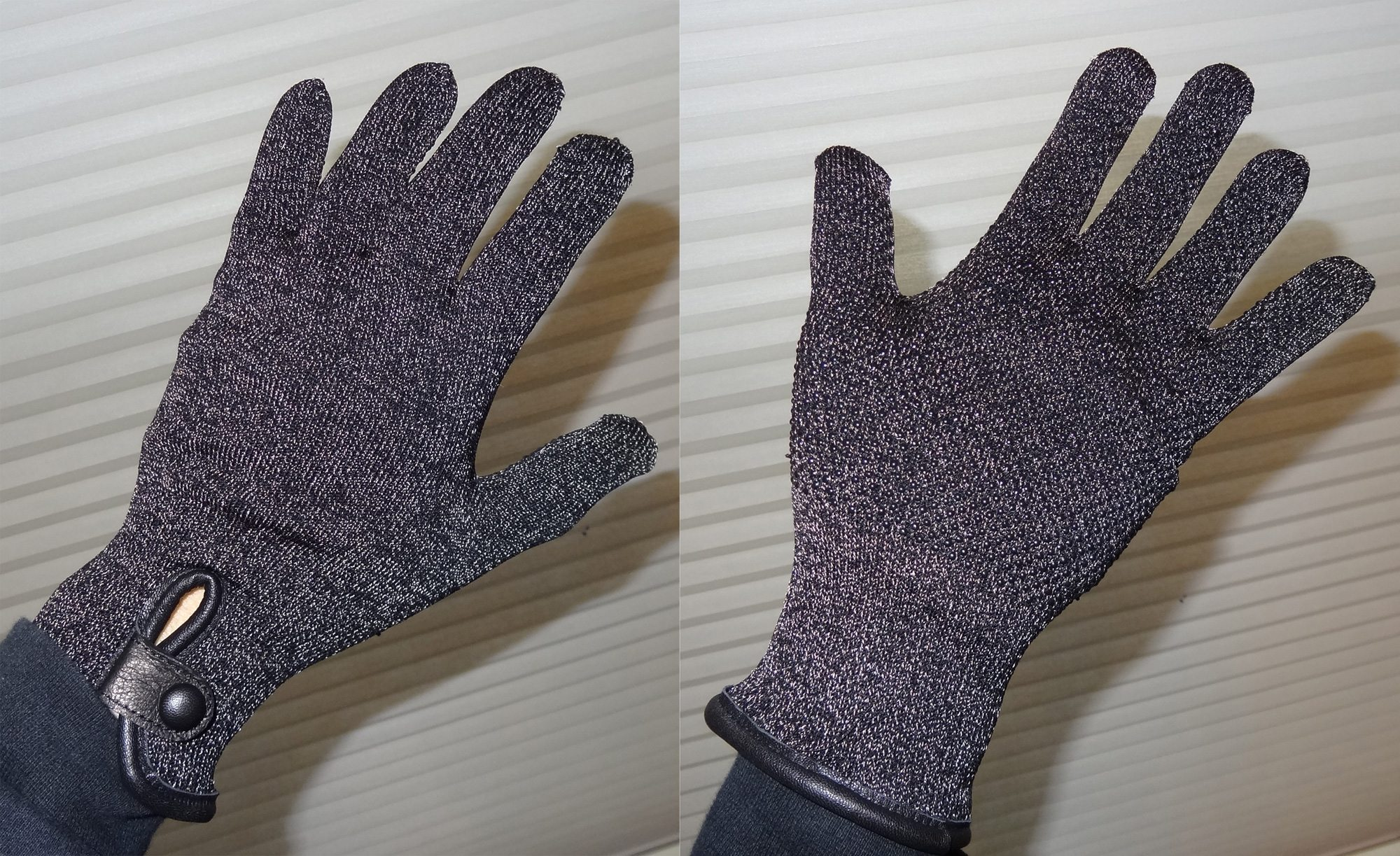 Mujjo gloves front and back
