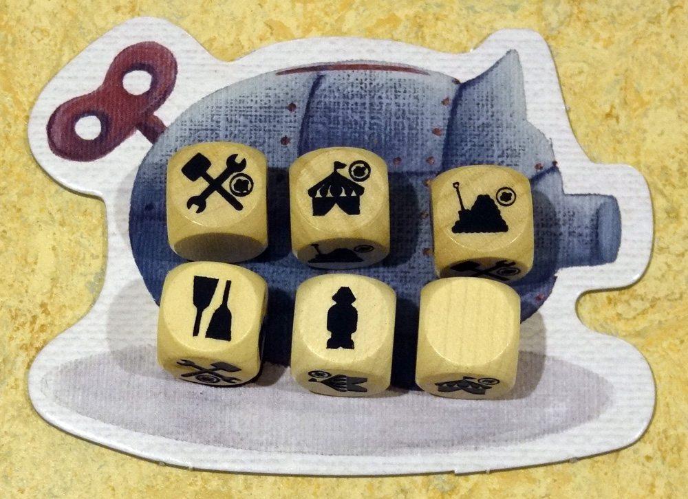 Steam Park dice