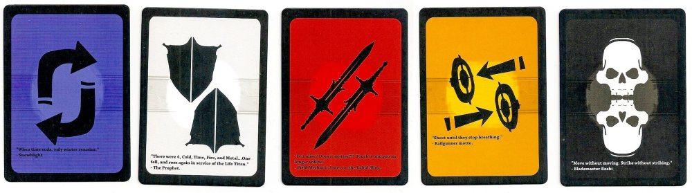 Titans Tactics skill cards