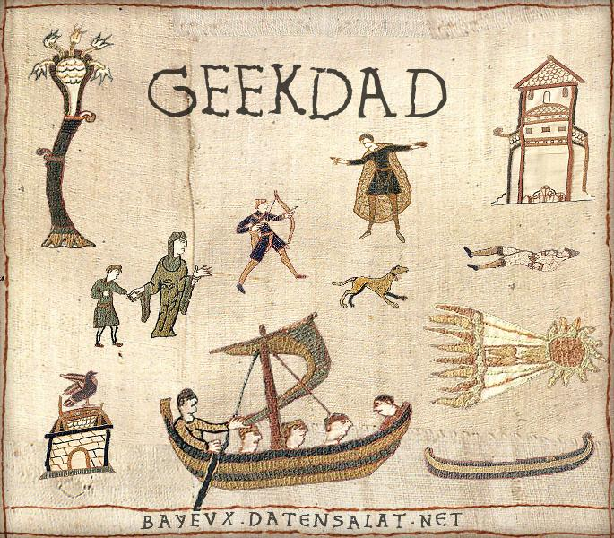 Look! GeekDad was a part of the Norman Conquest! Image assembled by Jenny Williams using the Historic Tale Construction Kit.