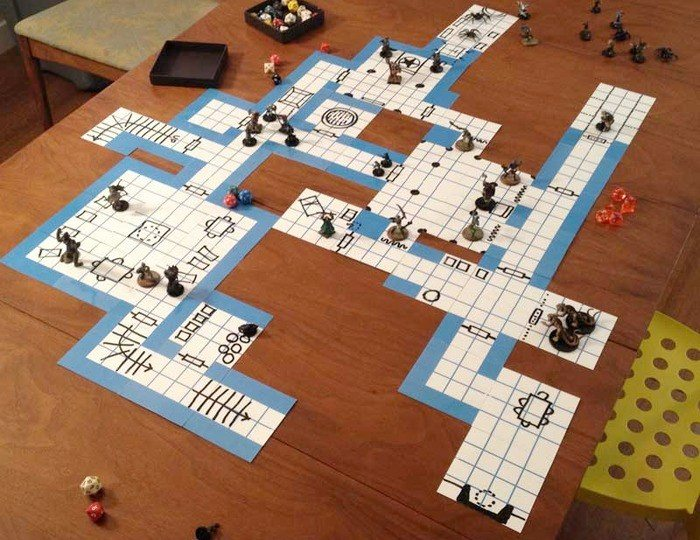Blue Dungeon Tiles in Action