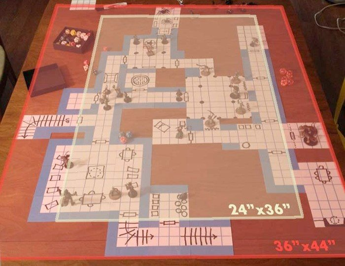 Blue Dungeon Tiles v Battlemats
