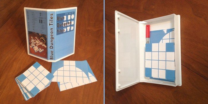 Blue Dungeon Tiles Basic Set in a Clamshell Case