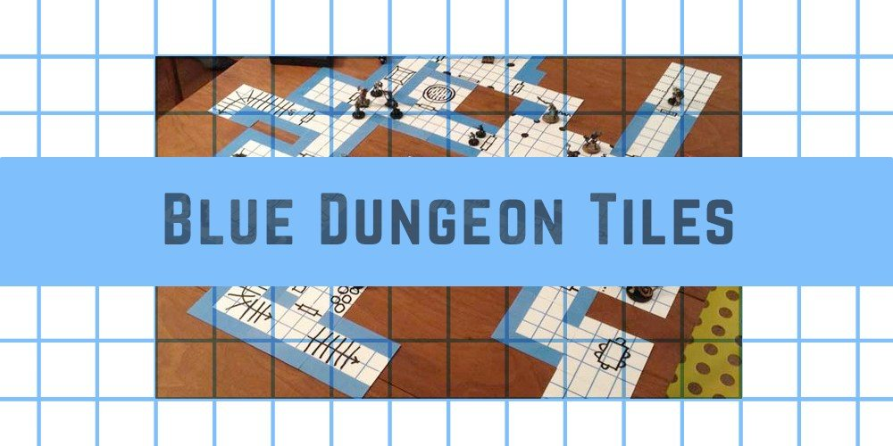 Blue Dungeon Tiles on Kickstarter