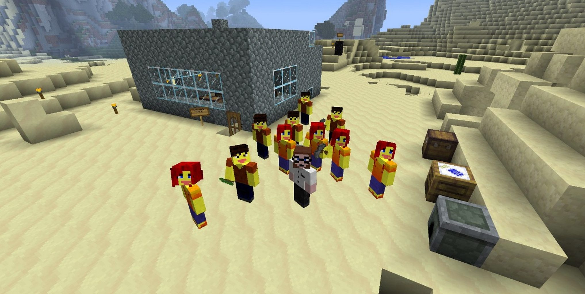 Class Photo in Minecraft.