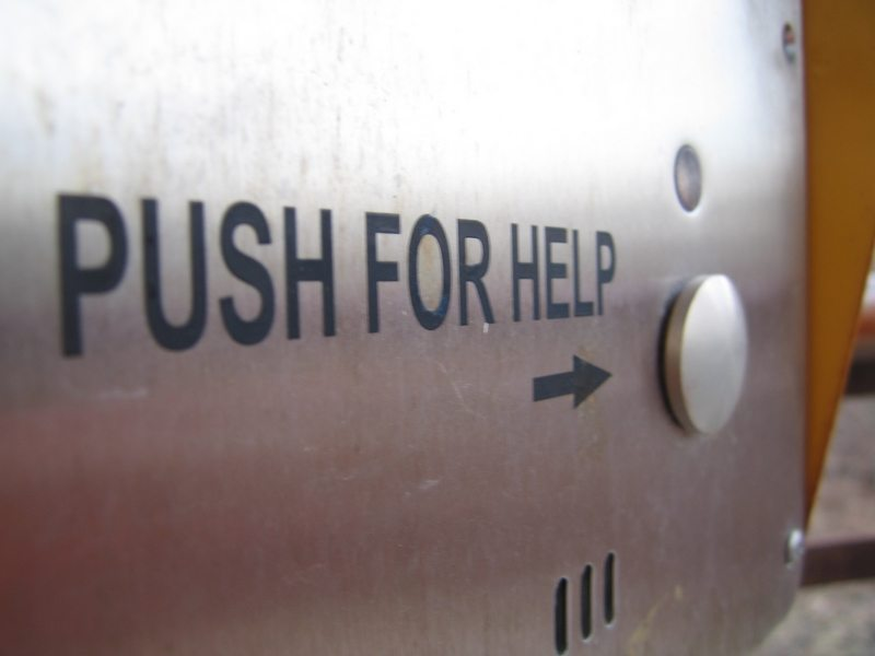 Push for help Image Flikr user Johnathan Nightingale, used under creative commons fair use