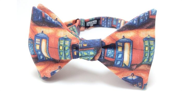 Vincent Van Gogh TARDIS Bow Tie