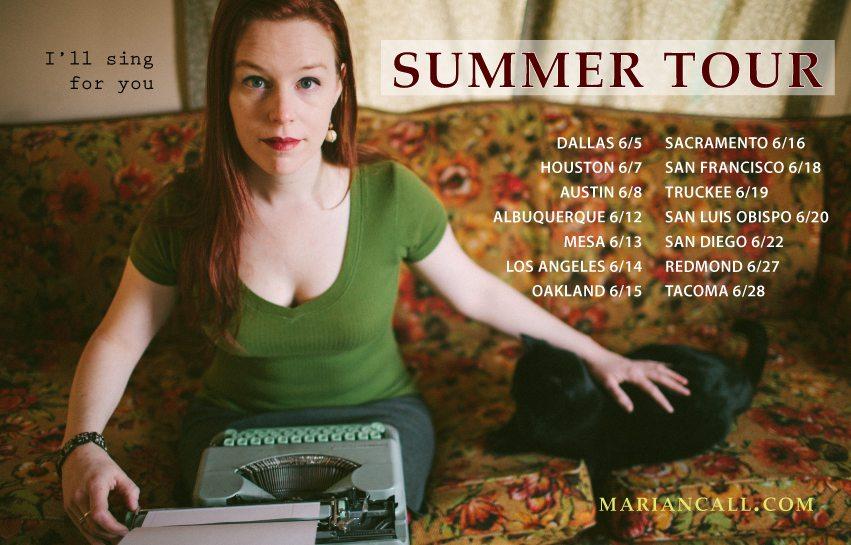 Marian Call Summer Tour