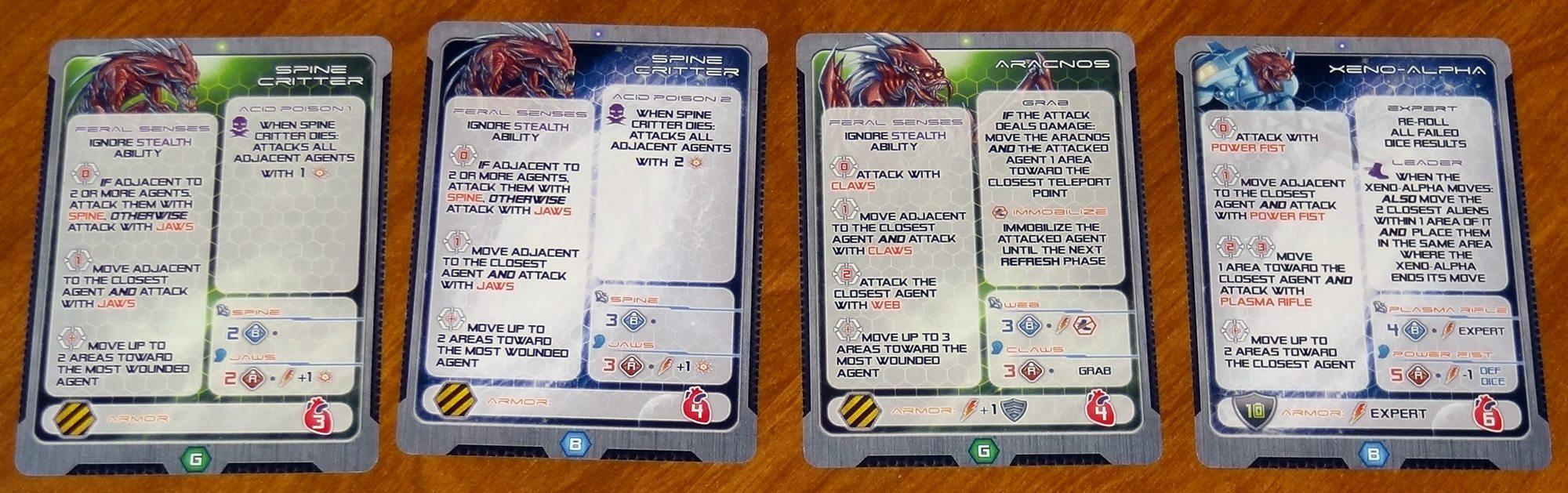Galaxy Defenders alien cards