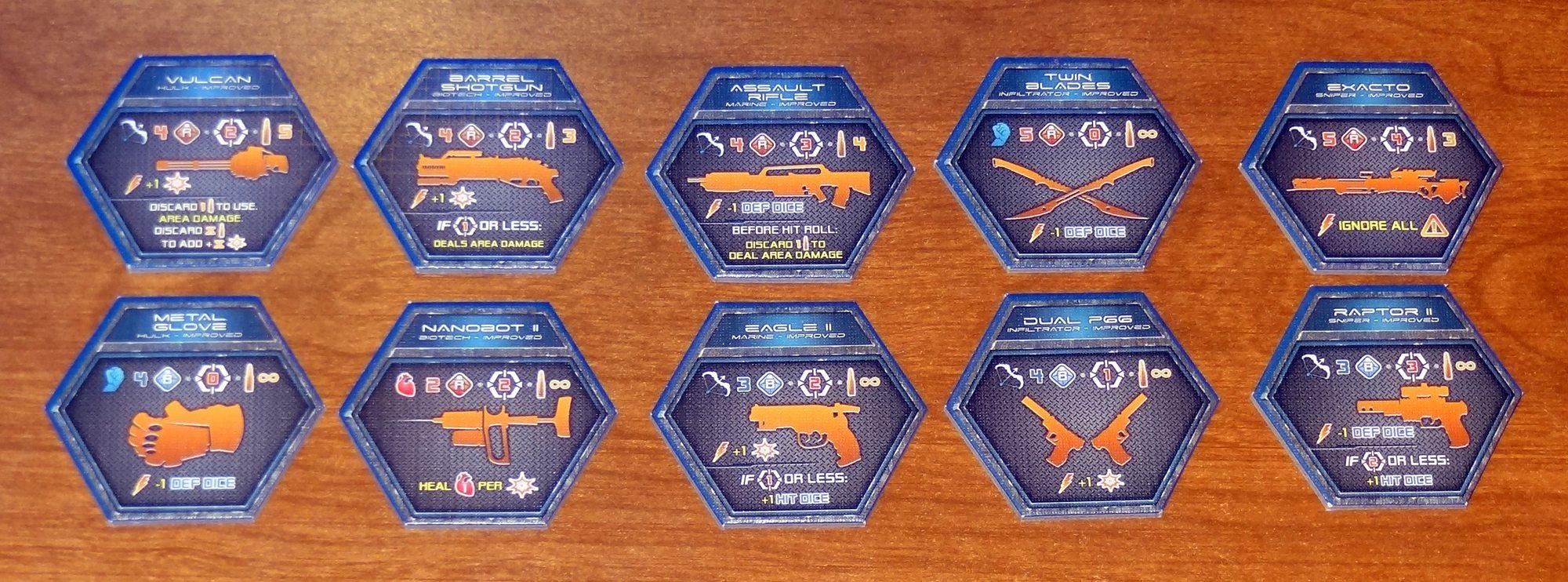 Galaxy Defenders weapons